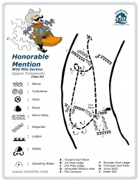 A detailed sketch illustrating the key kayak lines of Honorable Mention