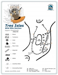 A detailed sketch illustrating the key kayak lines of Tres Islas