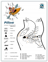 A detailed sketch illustrating the key kayak lines of Pillow
